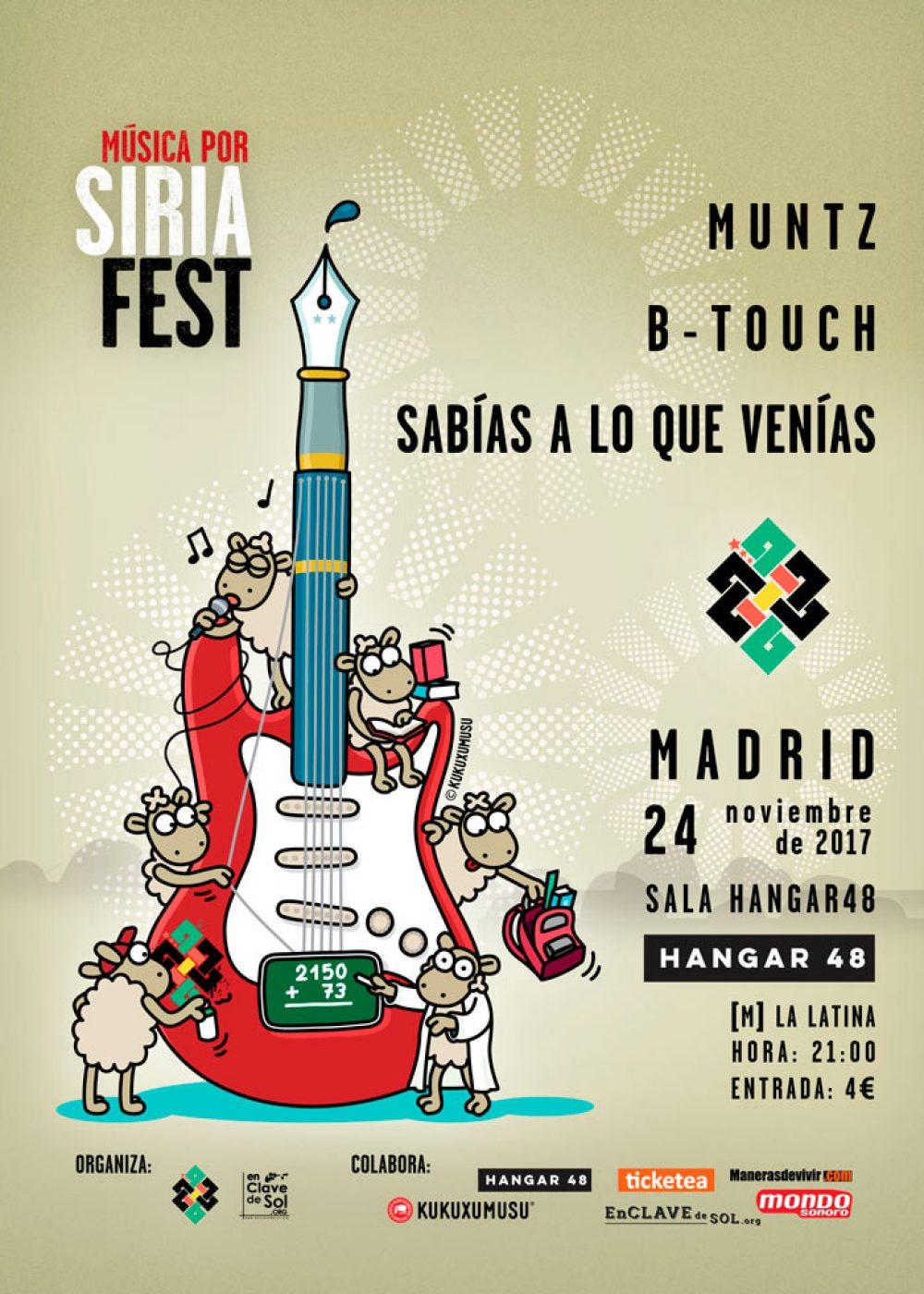 El Música Por Siria Fest llega a su fin con un último concierto en Madrid